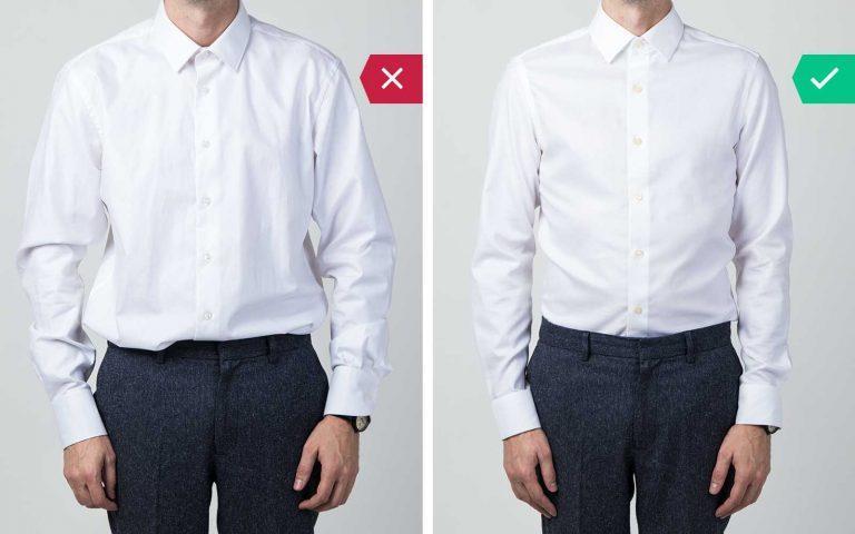 lỗi thường gặp của đàn ông khi mặc áo sơ mi