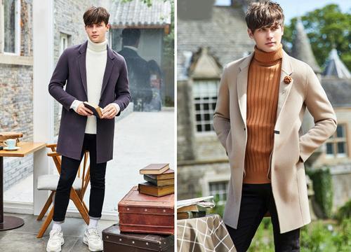 áo len cổ lọ dành cho nam